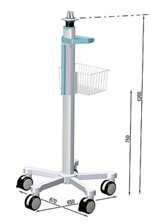 uni-cart Rollstand for Philips IntelliVue MP5-70/ MX600-800